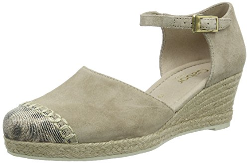 Gabor Shoes Damen Comfort Espadrilles, Beige (41 Silk/Platino), 38 EU