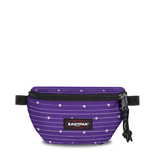 Eastpak Springer Riñonera Interior, 23 cm, 2 Liters, Morado (Little Stripe)