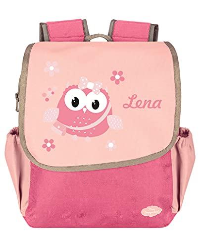 Mein Zwergenland Kindergartenrucksack Happy Knirps Next mit Name Eule, 6L, Pink