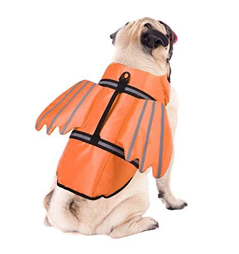 YBEL Chaleco salvavidas para perros, reflectante y resistente, para natación, canoa y rescate, chaleco salvavidas ajustable con alas