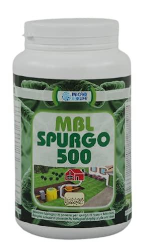 MBL SPURGO 500 – kg. 2 Attivatore biologico in polvere per lo spurgo di fosse e tubazioni, contiene un misurino per il corretto dosaggio (500 milioni di microrganismi per grammo)