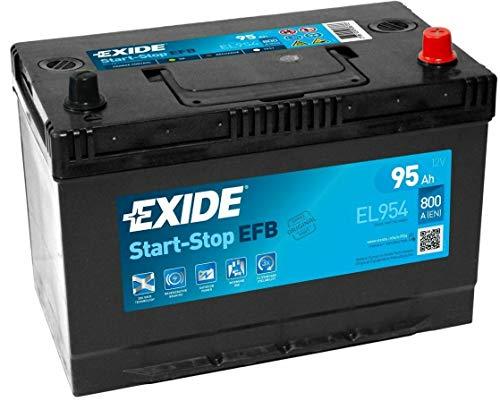 Exide – Batería para coche StarT-Stop EFB – Especial para coche – Batería de 12 V – 95 Ah – baja tasa de autodescarga – Experiencia de equipo de origen – Garantía del fabricante 2 años