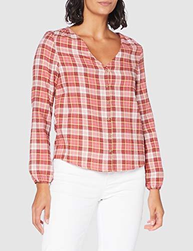 Springfield Cami Cuadros Pic-c/31 Blusa, Marrón (Medium_Brown 31), 36 (Tamaño del Fabricante: 36) para Mujer