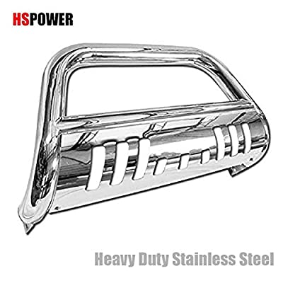 HS Power Chrome Bull Bar 2005-2010 for Hummer H3 | Stainless Bumper Grill Brush Push Grille Guard