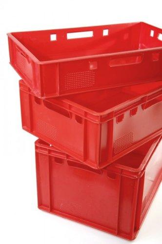 1a-Handelsagentur Eurofleischkiste E1 / E2 / E3 rot, Größe:E2