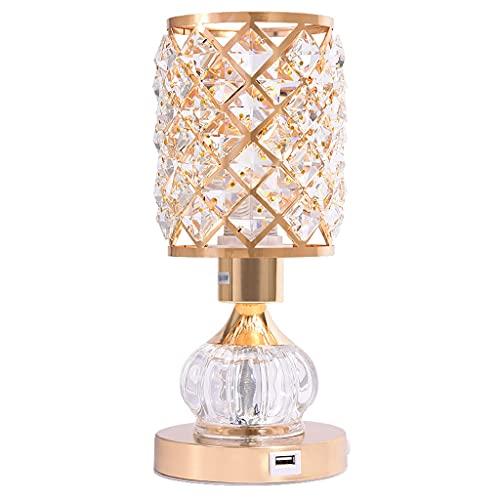 lámpara de noche Lámpara de mesa hierro forjado cristal lámpara de mesa decorativa sala de estar dormitorio mesita de noche lámpara de mesa romántica cálida casa interruptor de noche luz de noche Luz