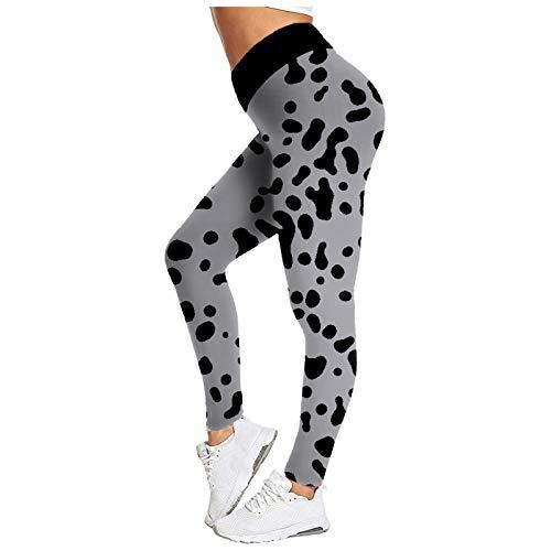 Pudyor Mujer Pantalones Deportivos de Yoga Pantalón de Deporte Fitness Leggins Push up de Cintura Alta Leggings Transpirables Elásticos Mallas Ideal para Correr Fitness Yoga y Pilates