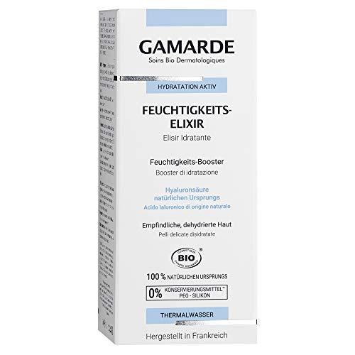 GAMARDE Bio-Kosmetik: Feuchtigkeits-Elixier mit Aloe Vera, Hyaluronsäure & Haselnussöl I Feuchtigkeits-Booster für normale oder empfindliche Haut I Natürliches Feuchtigkeits-Gel I Vegan I 30 ml
