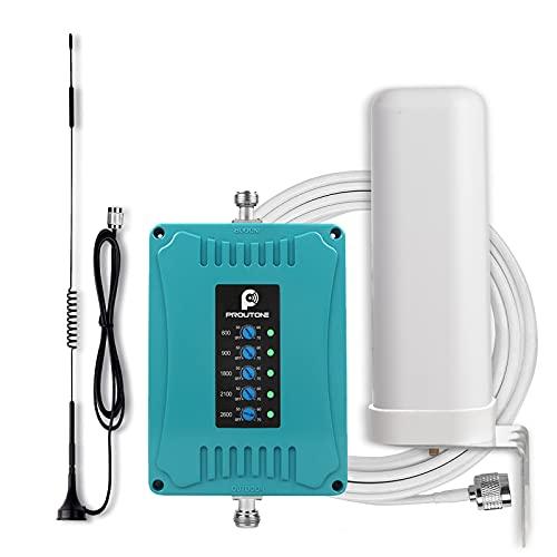 Amplificador de Señal 4G gsm Repetidor Vodafone Orange Movistar Yoigo Impulse los Datos y la Voz Amplificador de Cobertura Móvil Band 1/3/7/8/20