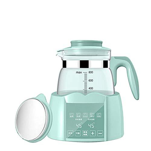PIANYIHUO Hervidor de agua, botellas de leche, esterilizador de calefacción, calentador de botellas térmico, hervidor de agua termostato, tetera de cristal, color gris