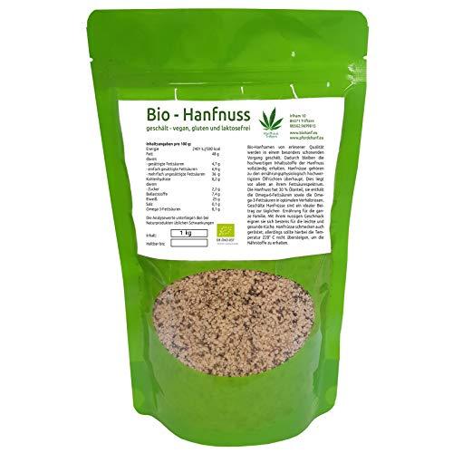 Bio Hanfsamen/Hanfnüsse geschält, Rohkostqualität, naturbelassen, glutenfrei, vegan, 1 kg