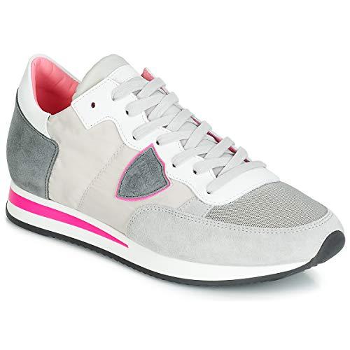 Philippe Model Tropez MONDIAL Sneaker Damen Grau/Rose - 38 - Sneaker Low
