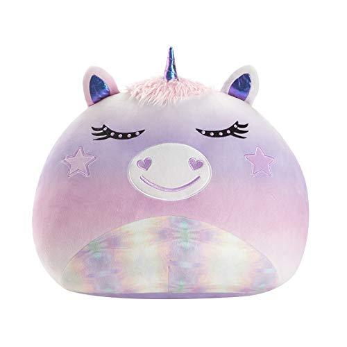 "Heritage Kids Figural Smooshie Super Soft Kids Cozy Plush Pillow Toy,Unicorn,16""x16 x16"""
