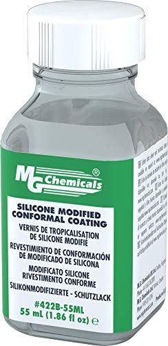 MG Chemicals 422B Silicone Modified Conformal Coating, 55mL Glass Bottle with Brushes