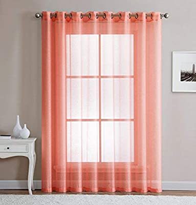 "LinenZone - Grommet Semi-Sheer - 1 Extra Wide Patio Curtain Panel - 102 Wide - 96 Inch Long - Ideal for Sliding and Patio Doors - Natural Light Flow Material (Patio 102"" W x 95"" L, White)"