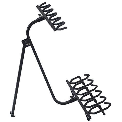 Hold Up Displays Portable Gun Rack and Bow Holder - Tactical Freestanding Folding Firearm Stand Holds Any Rifle or Bow - Keeps Guns Organized at The Shooting Range - Made in USA with Heavy Duty Steel