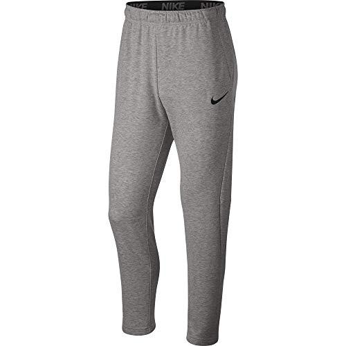 Nike Men's Dry Fleece Training Pants, Dark Grey Heather/Black, Medium