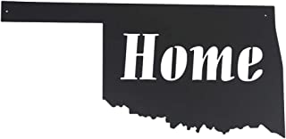Memory Mats & Word Art US States Decorative Wall Signs, Vacation & Destination Geographic Graphic Plaque (Oklahoma Outline)