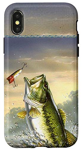 iPhone X/XS Largemouth Bass Fishing for men Cool Fish Hunting Gift Case
