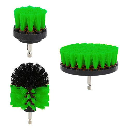 IPOPU Drill Brush Power Scrubber Brush Set – Drill Brush Kit with Extension - Drill Brushes for Cleaning Bathroom Accessories