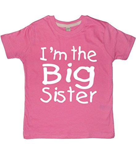 personnalisé Big Sister T-shirt et Baby Sister Body Coffret cadeau '(veuillez ajouter des Options de cadeau juste avant Checkout... du nom d'entrée en Message cadeau et de gagner du) - Rose - 5-6 ans 0-3 mois
