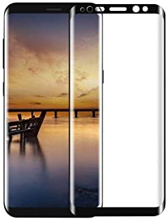Full Coverage Galaxy S8 Plus Screen Protector, Tempered Glass Screen (Black)