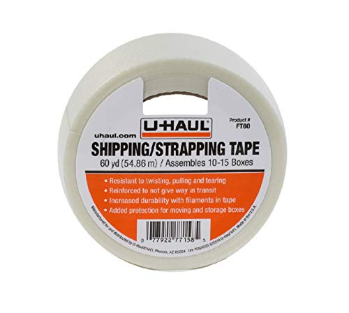 """U-Haul Shipping Tape (Ideal for Shipping, Strapping, and Protection) - 60 Yards, 1-3/4"""" Width"""