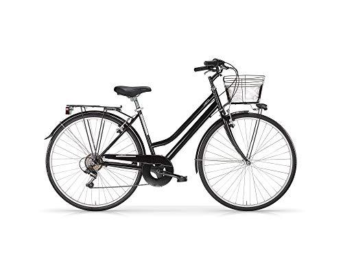 MBM Touring D TKK 28' Acc 6V, Bicicleta para Mujer, Negro Brillante A01, XX