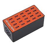Garsent USB-Hub, 18 A/5 V, 20 Ports, USB-Hub-Splitter, tragbar, universal, USB-Ladestation mit...