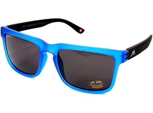 MONTANA S26 Gafas, Multicolor (Azul/Lentes Humo), Talla única Unisex Adulto