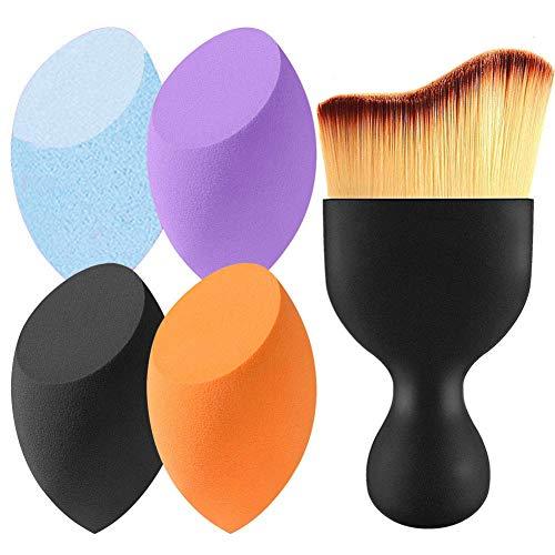 Beauty,Make-up Schwamm,Beauty Blender,Make-Up Blender Schwamm,1er Pack (1 x4 Stück +Make-up Pinsel)