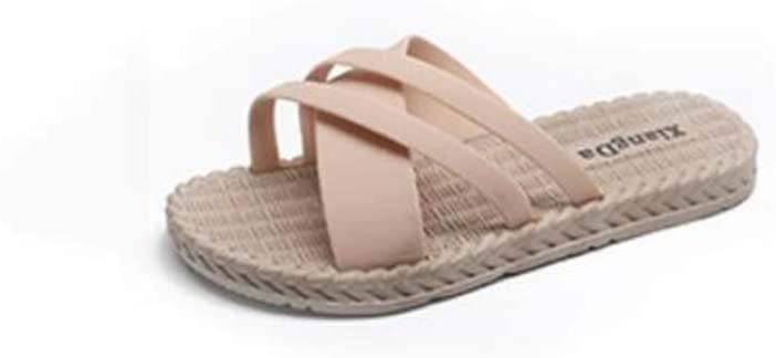 Ladies Home Floor Slippers Open-Toe Breathable Linen OFFicial site Virginia Beach Mall Deodorant