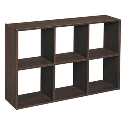 ClosetMaid 1582 Cubicals Mini 6 Cube Organizer, Espresso