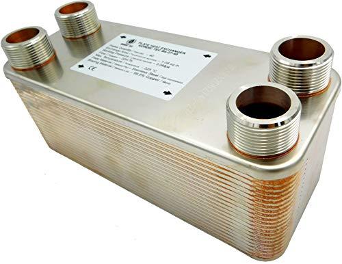 """Edelstahl Wärmetauscher Plattenwärmetauscher NORDIC TEC Ba-32-50, 285kW, 50 platten, 1"""""""