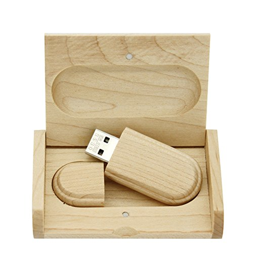 yaxiny 8 GB 3.0 de Arce Madera Unidad flash USB con caja de madera ...
