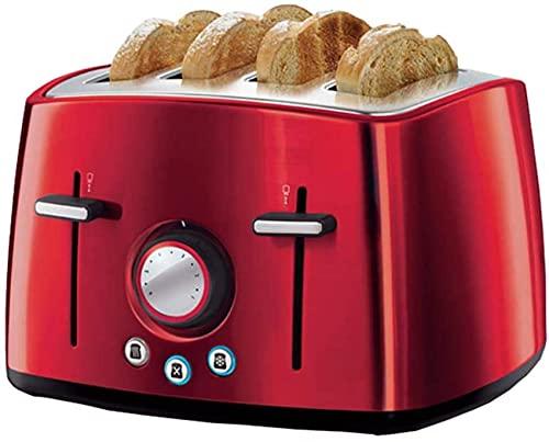 Profesión tostadora, 4 rebanadas pan hornear máquina de acero inoxidable tostadora de pan casero máquina de desayuno sándwich