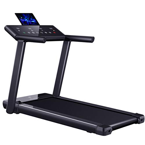 CRYPIN Treadmill Folding Electric Motorized Walking Running Machine Fitness Exercise Jogging Aerobic 3.5HP Quiet Motor Touch LCD Screen Black Categories
