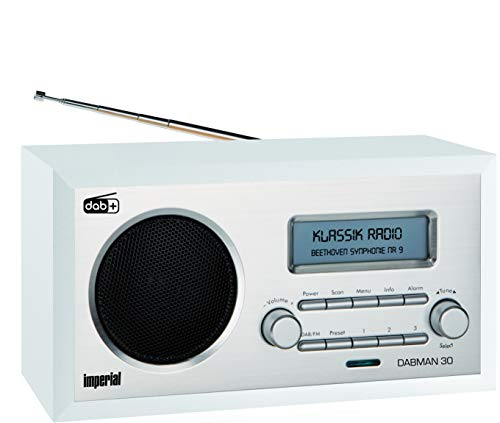 IMPERIAL DABMAN 30 Digitalradio (DAB+ / DAB / UKW, Aux In, inkl. Netzteil) weiß