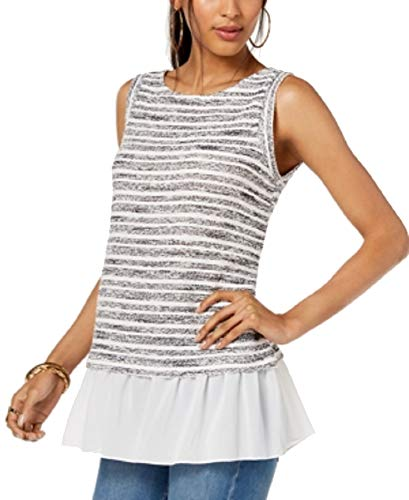 INC International Concepts Layered-Look Top (Bright White, XL)