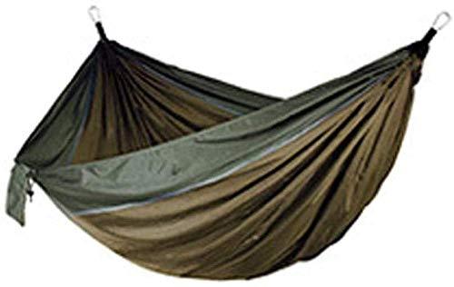 YSCYLY Hamac Jardin Exterieur Voyage Ultra-léger,270 * 140cm avec Sangles hamac de Couchage,Nylon à Parachute,pour Randonnée Voyage Plage Jardin