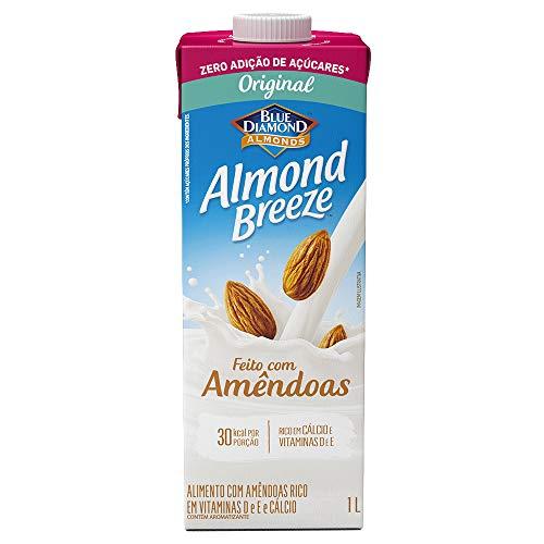 Alimento com Amêndoas Original Zero Açúcar Almond Breeze 1L