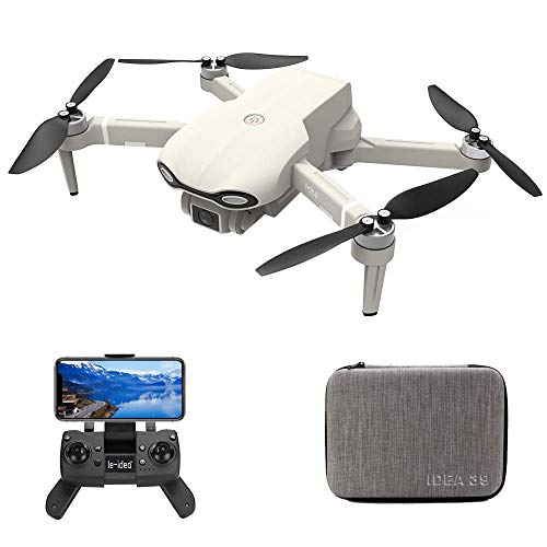 le-idea Drone con Camara HD, IDEA39 4K sin Escobillas Drones con Camara Profesional Estabilizador GPS, 5GHz WiFi FPV RC Quadcopter, Posicionamiento de Flujo óptico, Fotografía de Gestos con Las Manos