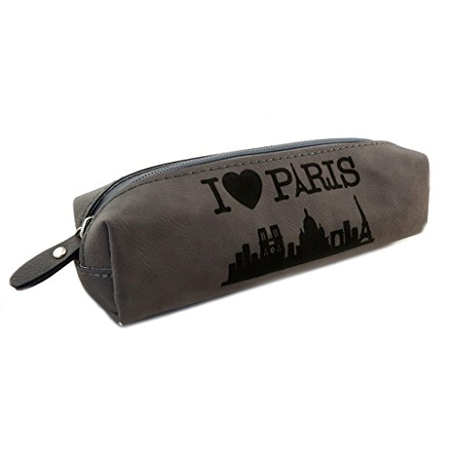 Les Trésors De Lily [N7944] - Retro-kit 'I Love Paris' grau - 21x7x5,5 cm.