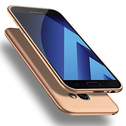 X-level Funda para Samsung Galaxy A5 2017, Carcasa para Samsung Galaxy A5 2017 Suave TPU Gel Silicona Ultra Fina Anti-Arañazos y Protección a Bordes Funda Phone Case para Galaxy A5 2017 - Oro