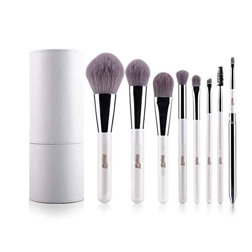 Hnd Pincel de maquillaje, maquillaje de pelo de la fibra 8 Sistema de cepillo, sistema completo de la herramienta del maquillaje sombra de ojos cepillo de maquillaje, Principiante cepillo profesional