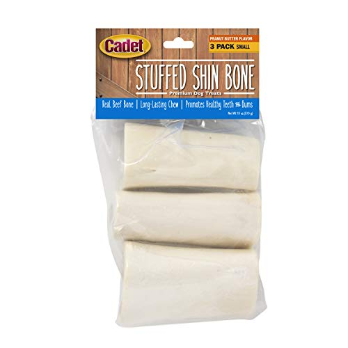 Cadet Stuffed Shin Bone for Dogs Peanut Butter Flavor Small
