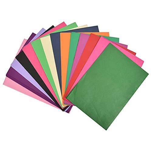 """""""N/A"""" 264 Pezzi Fogli di Carta Velina Colorata di 33 Colori Carta Colorata A4 per Fatti al Mano Decorazioni Creativi Confezioni Regalo 34.3 x 24.5 cm"""