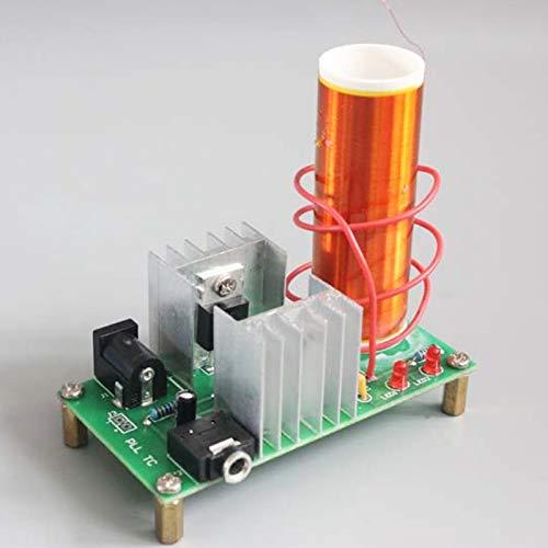Mini Coil Kit Hochpräzises Lichtbogen-Übertragungskit Plasma-Lautsprecher DC 15-24 V Platinen-Set DIY-Projekt Standard für Blitzröhren für energiesparendes Licht