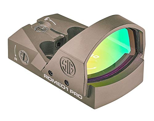 Sig Sauer SOR1P103 Romeo1Pro, 6 Moa 1.0 Moa Adjust, Steel Shroud, Fde