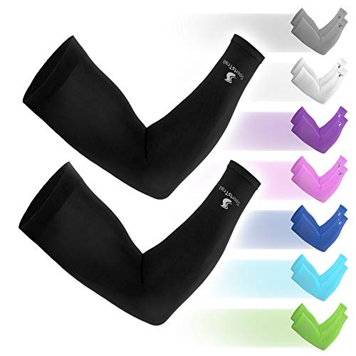 professional Men's and women's cooling sleeves, tattooed cape, 1 pair (black)